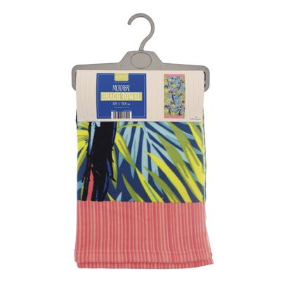 Country Club Microfibre Beach Towel, Palm Leaves