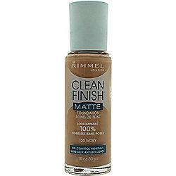 Rimmel Clean Finish Matte Foundation 30ml - 120 Ivory