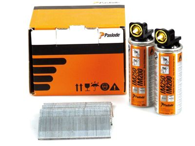 Paslode 45mm IM65 Galvanised Straight Brads 2,000 2 x Fuel Cells