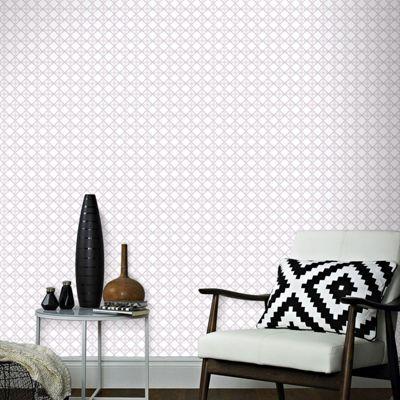 Superfresco Easy Paste The Wall Geometric Diane Purple Wallpaper