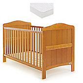 Obaby Whitby Cot Bed and Mattress - Country Pine