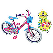 "Shopkins Collectible 16"" Kids Bike (6 Shopkins)"