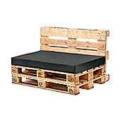 Black Seat Fibre Printed Pallet Cushions Hollowfibre Garden Patio