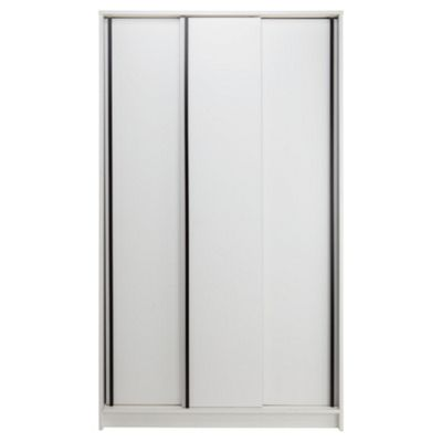 Trenton 3 Door Sliding Wardrobe White/Black