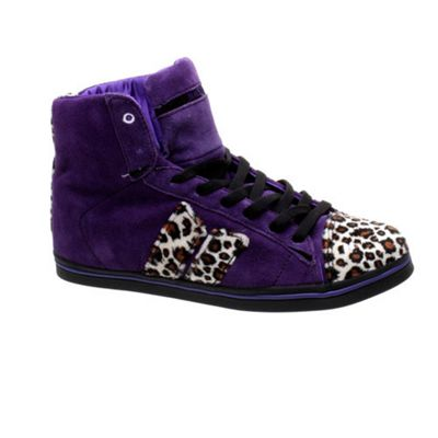 Macbeth Nolan Purple/Leopard Cassadee Pope Womens Shoe