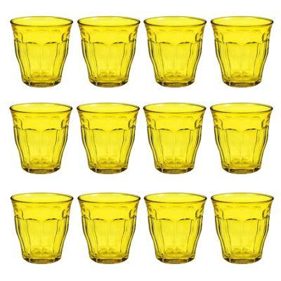 Duralex Picardie Coloured Water Tumbler Glasses - 250ml - Yellow - x12