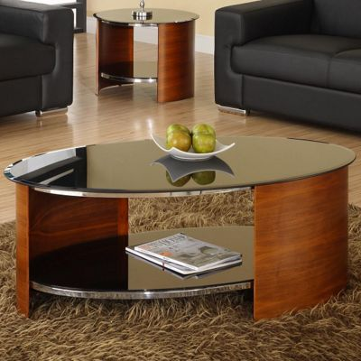 buy jual curve coffee table - walnut from our coffee tables range