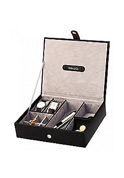 Black Bonded Leather Men's Accessory Box