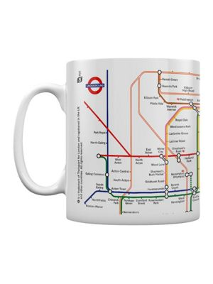 Transport For London Underground Map 10oz Ceramic Mug, White