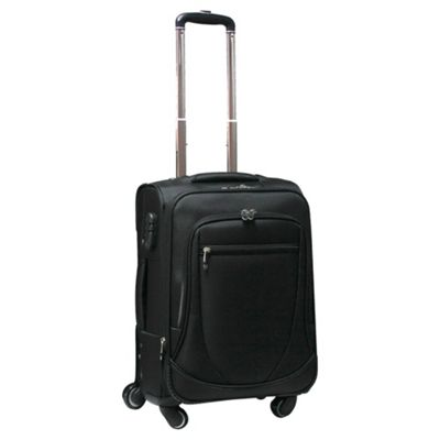 Tesco 4-Wheel Expandable Suitcase, Black Small