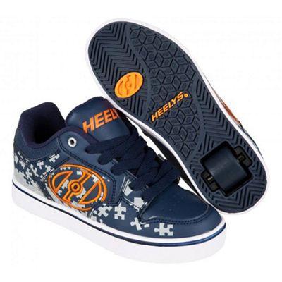 Heelys Motion Plus Navy/Grey/Orange Kids Heely Shoe UK 2