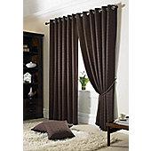Alan Symonds Madison Chocolate Eyelet Curtains - 90x108 Inches (229x274cm)