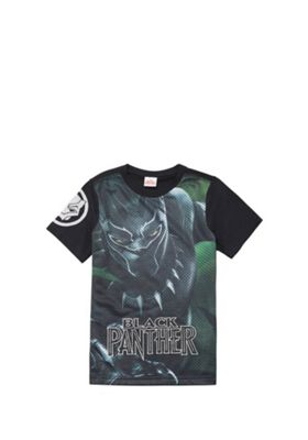 Marvel Black Panther Mesh T-Shirt Black/Green 5-6 years