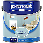 Johnstones No Ordinary Paint Water Based Interior Vinyl Matt Emulsion Tester Pot New Duck Egg 75ml