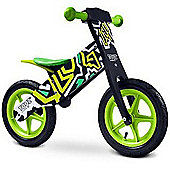 Caretero Zap Wooden Balance Bike (Black/Green)