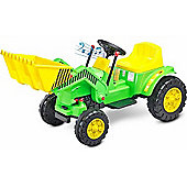 Caretero Bulldozer Battery Operated Ride-On Car (Green)