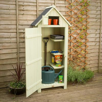 Christow Small Garden Sentry Shed With Lockable Door - Sage