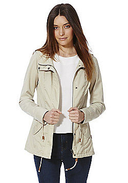Only Lorca Hooded Parka Jacket - Beige