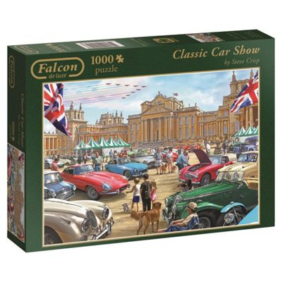 Falcon Games Deluxe Classic Car Show Jigsaw Puzzle (1000-Piece Multi-Colour)