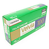FUJI Professional Reversal Film - Velvia 100 RVP 120 - 5pk