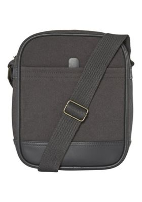 F&F Canvas Cross-Body Bag Charcoal Grey One Size