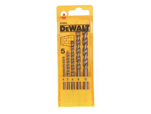 DeWalt Masonry Drill Set 5 Piece 4-10mm