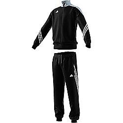 new styles 679da e826e adidas Sereno 14 Kids Youth Polyester Full Zip Tracksuit Set Black Grey - XS