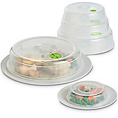 VonShef Set of 5 Ventilated Microwave Plate / Dish Covers