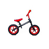 "New 1080 Childs 12"" 3 Spoke Mag Wheels Balance Training Bike Black / Red"