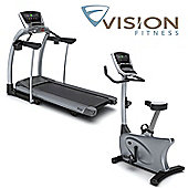 Vision Fitness Cardio Package 2: TF20 Elegant Treadmill & U20 Elegant Cycle