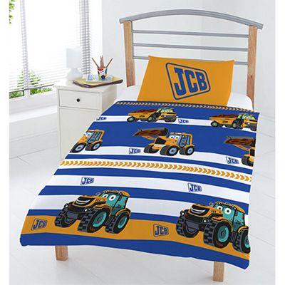 JCB 'Stripe' Rotary Junior Duvet Cover