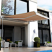 Outsunny Electrical Garden Door Awning Outdoor Retractable Canopy Patio Shelter W Remote Controller 35
