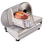 Andrew James Electric Food Slicer with 3 Multi-Use Blades, 150W, Silver