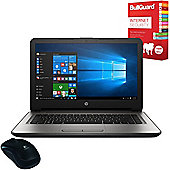 """HP 14-an060sa 14"""" Laptop AMD E2-7110 Quad Core 4GB 1TB Windows 10 with Internet Security & Mouse"""