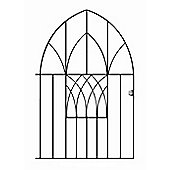 Wrought Iron Style Modern Low Bow Top Metal Garden Gate 99cm GAP x 138cm High