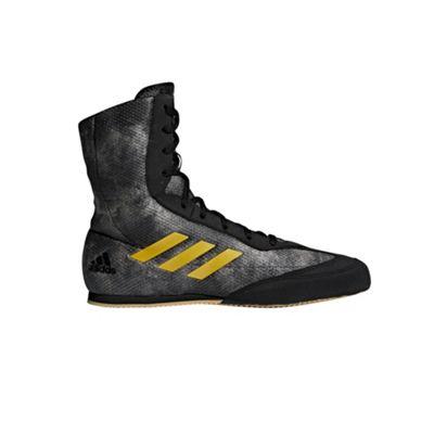 adidas Box Hog Plus Mens Boxing Trainer Shoe Boot Black/Gold - UK 7