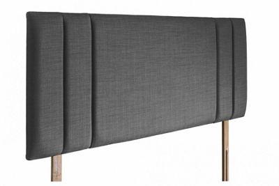 Swanglen Sphinx Gem Fabric Headboard with Wooden Struts - Granite - Single 3ft
