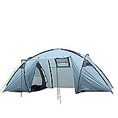 North Gear Camping Trekker Waterproof 6 Man 2 Room Tent - Blue