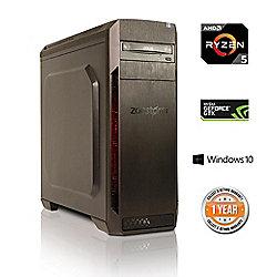Zoostorm Voyager Desktop PC Tower AMD Ryzen 5 2TB Western Digital HDD Windows 10 GeForce GTX 1050Ti