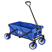Trail Folding Camping Trolley With All-Terrain Wheels - Blue