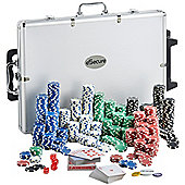 eSecure Professional 11.5g 1000pcs Poker Set inc. Dealer & Blind Buttons, 3 Card Decks & Aluminium Carry Case