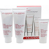 Clarins Jeunesse Des Mains Gift Set 2 x 100ml Hand and Nail Treatment Cream + 30ml Foot Cream