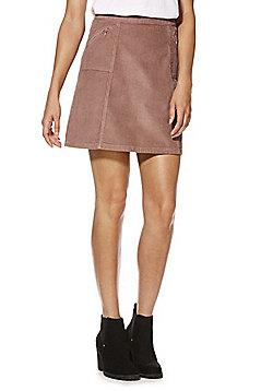 F&F Corduroy A-Line Skirt - Dusky pink