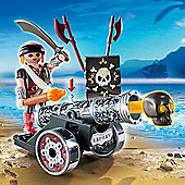 Playmobil Pirates Interactive Cannon with Pirate Captain Black