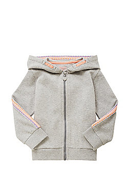 F&F Embroidered Sleeve Hoodie - Grey