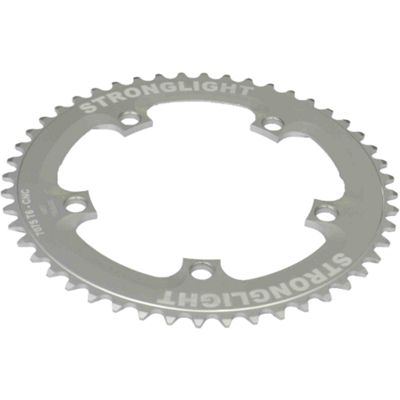Stronglight 5-Arm/130mm Track Chainring: Silver 46T.