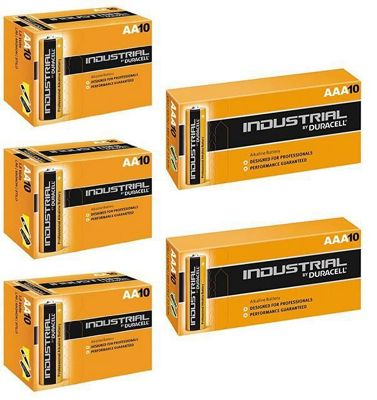 Duracell 20 x AAA and 30 x AA Industrial Batteries