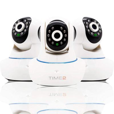 time2 720P HD WIFI IP Camera with Night Vision, Pan/Tilt/Zoom, Sound & Motion Alerts and Recording (Triple Pack)