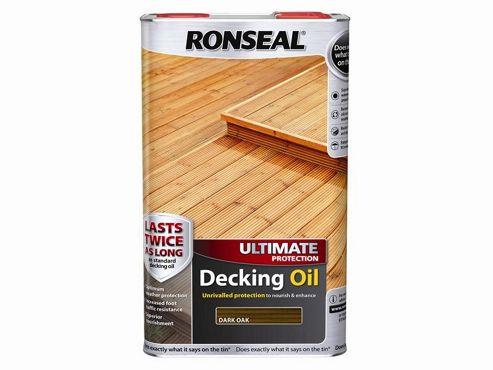 Ronseal Ultimate Protection Decking Oil Dark Oak 5 Litre RSLUDODO5L
