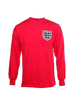 Score Draw England 1966 World Cup Final No 6 Mens Home Football Shirt - Red